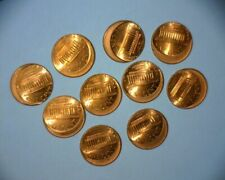 Lincoln Cent Off Center Errors Lot Of 10 Hi-Grade Coins*
