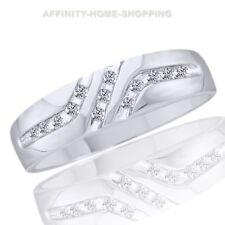 .12 Carat Mens Diamond 10K White Gold Wedding Ring Band Success Anniversary Man