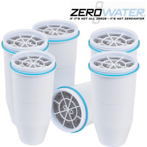 ZeroWater Replacement Pitcher Filters ZR-001  BPA-Free Water Filters 6-Pack
