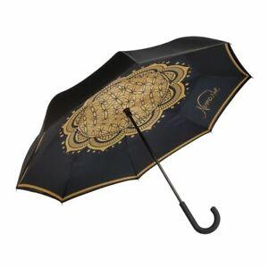 Goebel Upside Down Regenschirm Blume des Lebens Schirm Neu