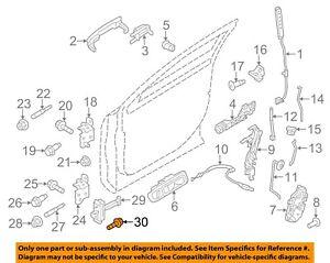FORD OEM Lock -Rear Door-Door Check Bolt W713778S900