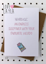 Greetings Card / Birthday / Marriage / Cheeky / Love Layla / Funny /Humour / L17