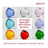 Faceted Glass Crystal Ball Prism Pendant Suncatcher Feng Shui ( 20 mm - 50 mm )