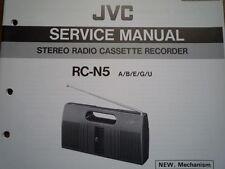 JVC RC-N5 RADIO REGISTRATORE A CASSETTE MANUALE servizio riparazione diagramma di cablaggio parti