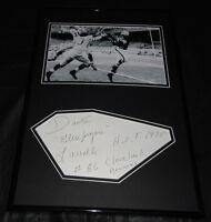 Dante Gluefingers Lavelli Signed Framed 12x18 Photo Display JSA Browns