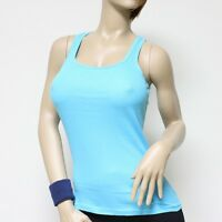 Women's 100% Cotton Racer Back Ribbed Tank Top Hot Tee Cami Gym Yoga Sport New