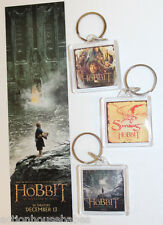 The HOBBIT: DESOLATION of SMAUG - Movie PROMO Lot - 3 KEY CHAINS + 1 BOOKMARK