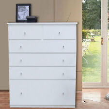 Assembled Modern Retro Style Tall Boy Chest  of Drawer, White, Del Melbourne Vic