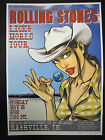 Rolling Stones Licks Tour Nashville TN 2002 Concert Poster Art Joe Whyte