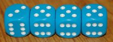 DUDDS DICE LIGHT BLUE WITH WHITE DOTS DICE VALVE STEM CAPS (4 PACK) #5