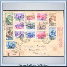 San Marino Paesaggi n. 342/355 su Raccomandata FDC Cert