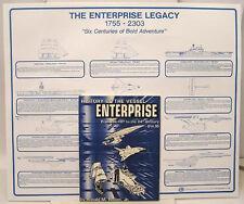 1993 History of Vessel Enterprise-Star Trek Reference Book w FREE Poster!