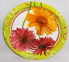 """Spring/Summer Plates  Daisey's  8 Ct. 7"""" Plastic Coated"""