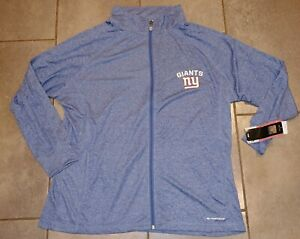 NWT Majestic New York Giants Womens 1X Full Zip Track Jacket Heathered Blue Top