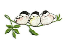 Birds - Bird Watching - Chickadees - Embroidered Iron On Applique Patch