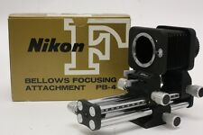 Nikon PB-4 Bellows Focusing Attachment Excellent Slide Adjusting MACRO FREE SHIP