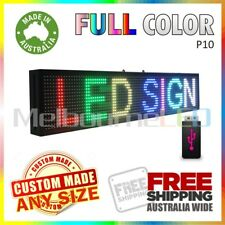 LED SIGN 1.3M RGB Full Colour Scrolling Programmable Message Display 1310x190