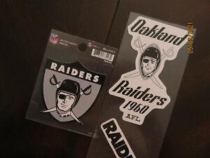 Oakland RaidersLOGO  RETRO DECALS...LOT OF THREE...FROM 1960'S