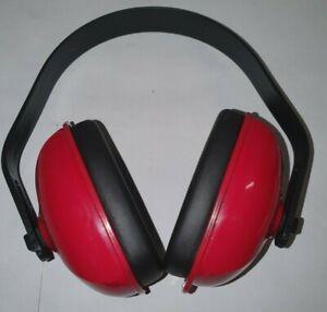 HONEYWELL HOWARD LEIGHT QM24PLUS Over-the-Head Ear Muffs, 25 dB, QM, Black/Red