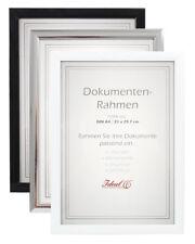Dokument Bilderrahmen in Schwarz Silber Weiß 21x29,7 DIN A4 Urkunde Foto Rahmen