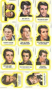 Happy Days 1976 Topps Complete Set of 11 Stickers SKC