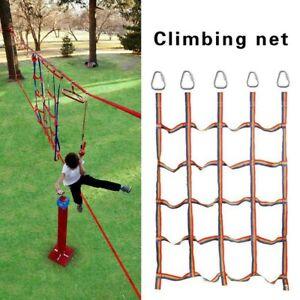 Kids Garden Climbing Net Frame Rope Ladder Backyard Training Exercise L0Z1