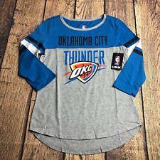 NBA Ultra Game Womens Medium Oklahoma City Thunder Raglan 3/4 Sleeve Tee Shirt