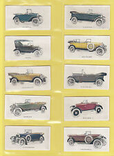 CARS - WILLS NEW ZEALAND  -  RARE  SET  OF  48  MOTOR  CARS  CARDS  -  1923
