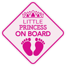 "LITTLE PRINCESS ON BOARD Baby Car Sign 5""x5"" Sticker Decal Buy 2, Get 3rd FREE"