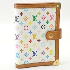 Authentic Louis Vuitton Multicolor Agenda PM Day Planner Cover R20896 #S3707 E