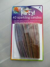 Sparkling birthday candles PACK OF FORTY