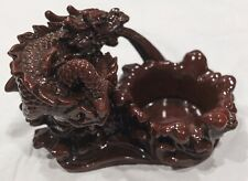 Maroon Resin Dragon Candle Holder by Yiwu Zhejiang Jia Wang Handiwork Factory