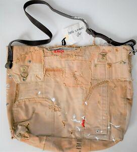 RARE 🆕️ GREG LAUREN CARHARTT G STUDIO Distressed PATCH MESSENGER Shoulder Bag