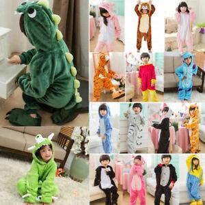 Kids Kigurumi Animal Cosplay Costume Pajamas Unisex Sleepwear Outfit Halloween
