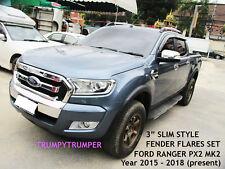 """3"""" SLIM WILDTRAK FENDER FLARES WHEEL ARCH FORD RANGER MK2 PX WILDTRAK 2015-2018"""