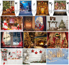 US 10X10FT 5X7FT XMAS Tree Fireplace Santa Wood Photo Background Vinyl Backdrop