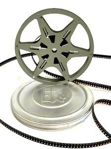 "Eastman Kodak Grey/Cream 8mm Metal 5"" 200ft. Film Reel w/ Case Rare"