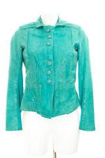 MILESTONE Lederjacke Gr. DE 34 Damen Jacke Leather Jacket Türkis Lamm Nappa