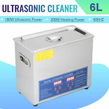 6L Ultrasonic Cleaner Cleaning Equipment Liter Industry Heated W/ Timer Digital