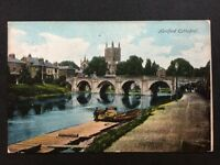 Vintage Postcard - Herefordshire #10 - RP Hereford Cathedral From River - 1905