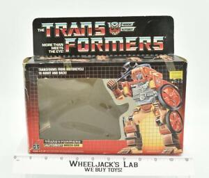 Wreck-Gar Box Only 1986 Action Figure Vintage Hasbro G1 Transformers