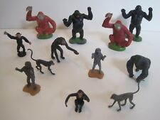 BRITAINS Plastic Zoo Animals: GORILLA APE MONKEY CHIMPANZEE COLLECTION
