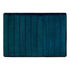 """Micro Plush 21"""" x 34"""" Memory Foam Bath Mat in Turquoise"""