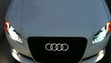 AUDI Front LED Grille Emblem Lighted Rings Ultra White A1 A3 A4 A5 A6 A8 S3