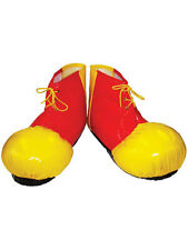 Oversized Clown Shoe Boot Covers Circus Yellow Red Fancy Dress Accessory New
