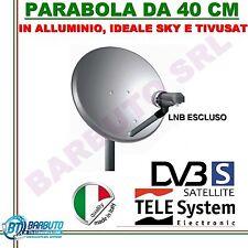 PARABOLA 40 CM ALLUMINIO ANTENNA  SATELLITARE TELESYSTEM  PER SKY O TIVUSAT