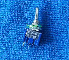 10 Piezas Nuevo mts-101 de 2 polos SPST On-off 6a 125vac interruptor de palanca de 6mm