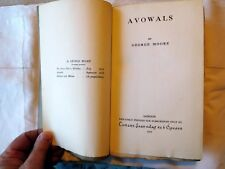 Avowals by Irish Author George Moore - 1919 Rare Signed/Limited Edition. VG Cond