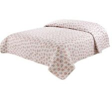 Single/Ksingle Quilted Reversible Bedspread/Coverlet+ Matching Fabric Bags 5727