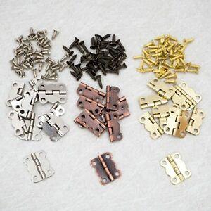 10 St. Mini-Scharniere 16 x 13mm inkl. Schrauben für Modellbau Schatullen Möbel